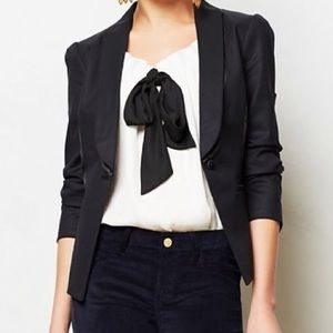 Anthropologie Elevenses Gamine Tux Jacket size 12